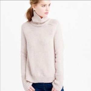 J. Crew Relaxed Wool Turtleneck Sweater Light Pink
